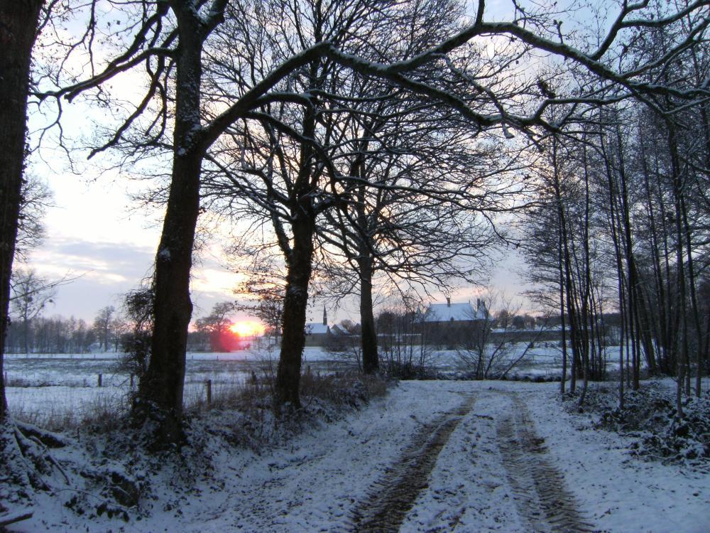 2 décembre 2010, coucher de soleil sur la Chaslerie.