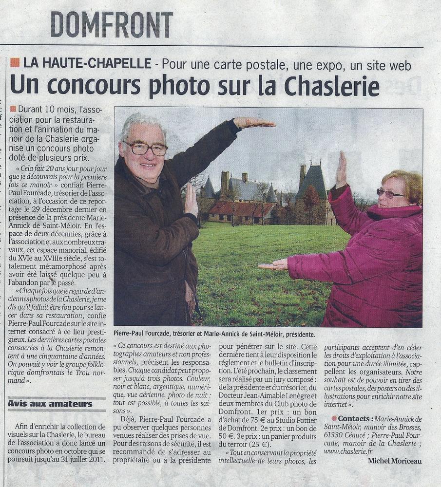 6 janvier 2011, article du