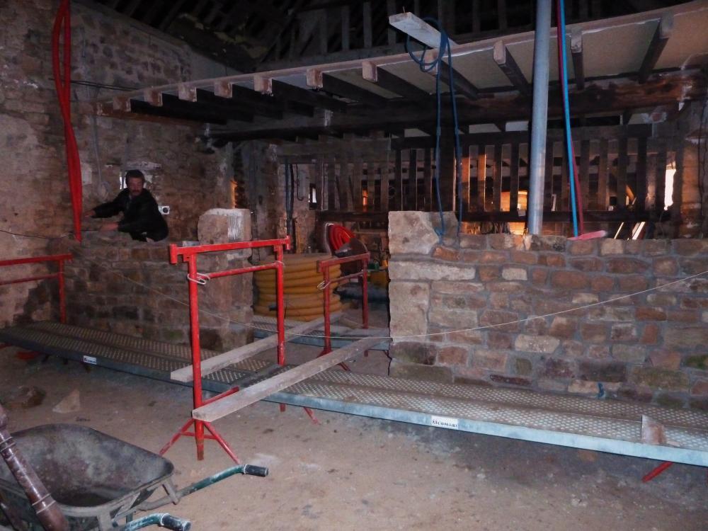 8 janvier 2011, le mur de refend de la ferme.