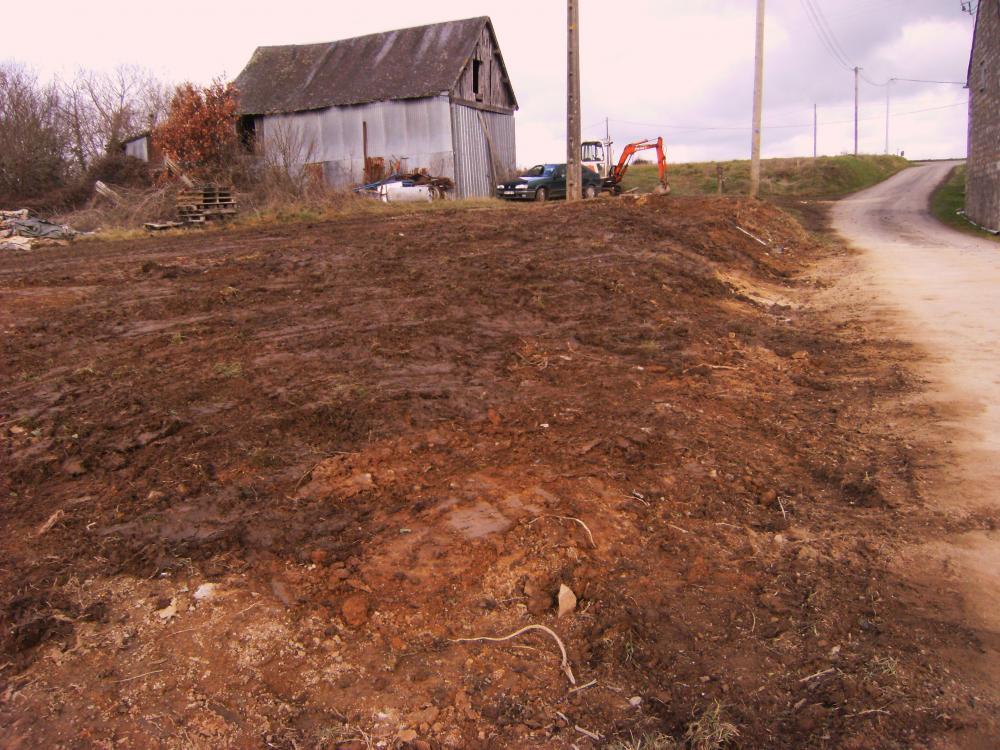 21 janvier 2011, il n'y a plus la moindre trace de l'ancienne porcherie du Haut Champ.