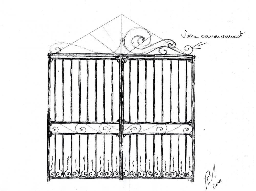 9 février 2011, le projet de grille de Roland FORNARI.