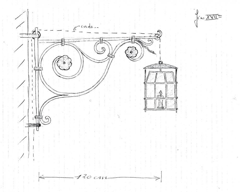 9 février 2011, le projet de Roland FORNARI pour la paire de grandes lanternes.