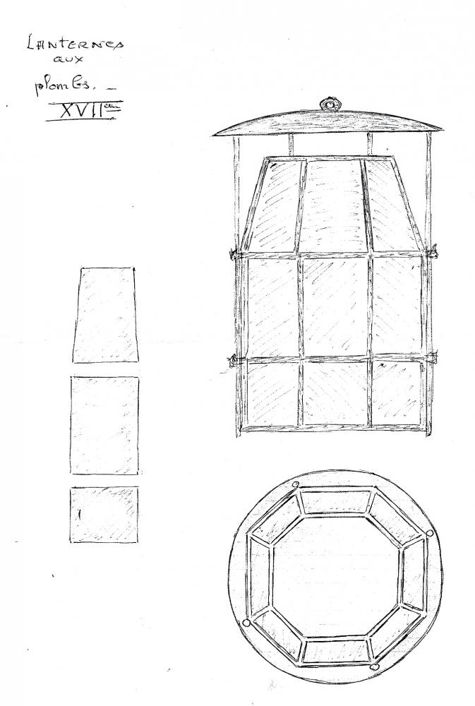 9 février 2011, détail des lanternes de Roland FORNARI.