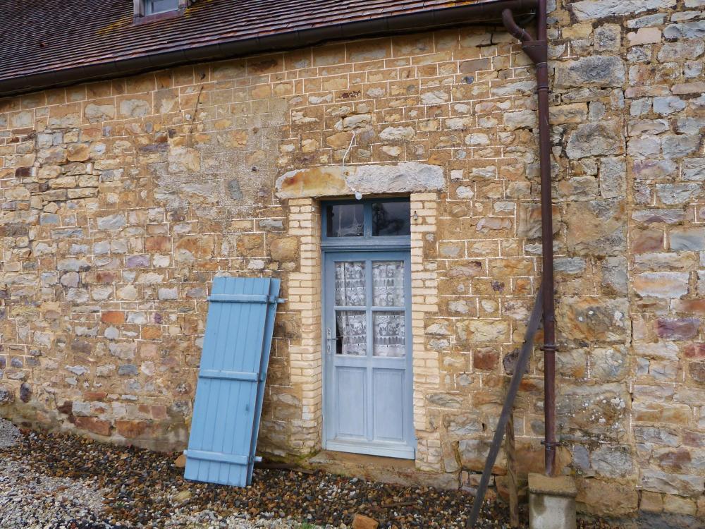26 février 2011, un bout de la façade Ouest actuelle de la partie la plus ancienne de la ferme.