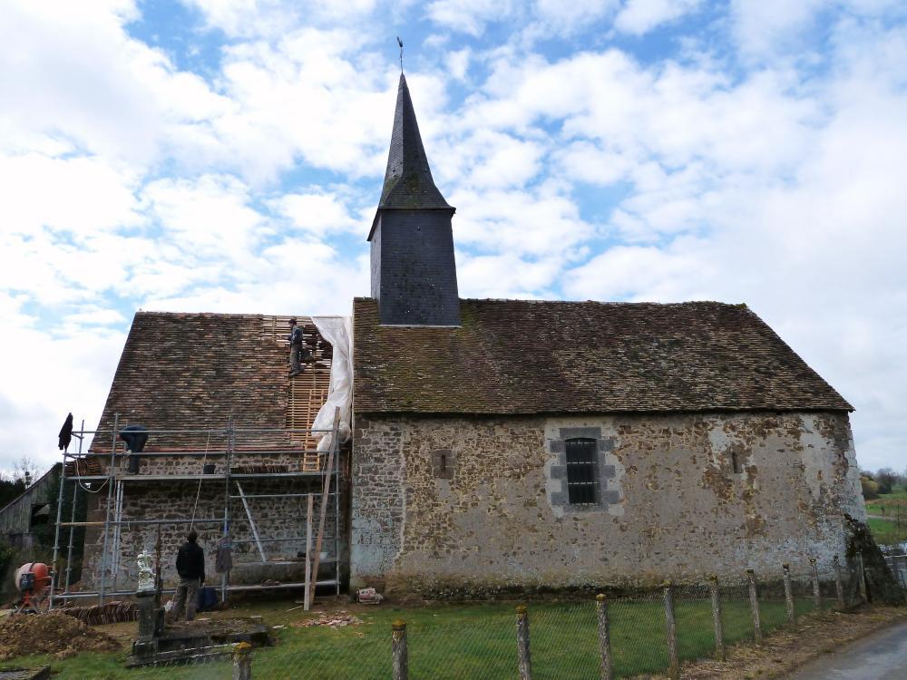 18 mars 2011, la chapelle d'Etrigé à Sept-Forges.