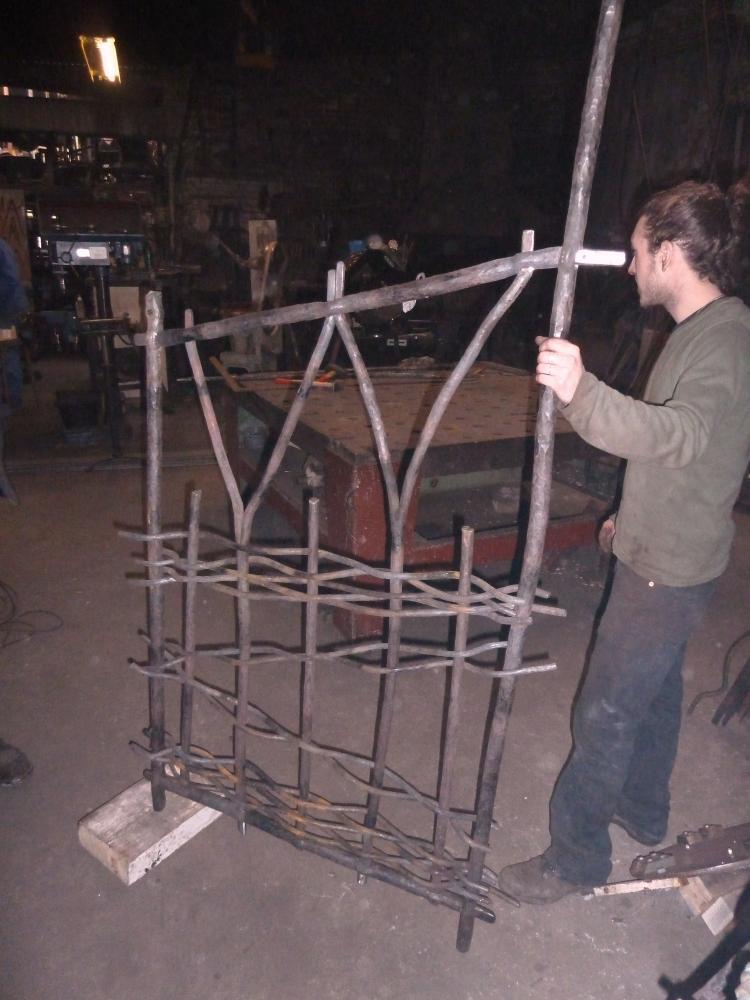 18 mars 2011, un portillon en cours de fabrication chez Roland FORNARI.