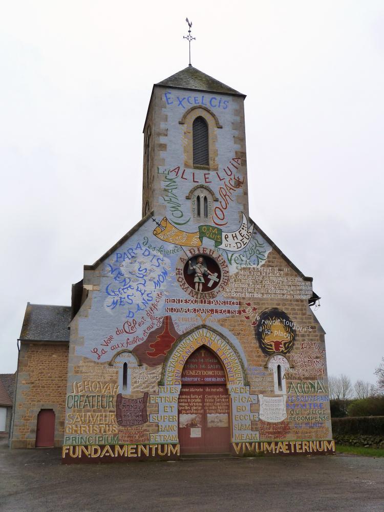18 mars 2011, l'église de Ménil-Gondouin.