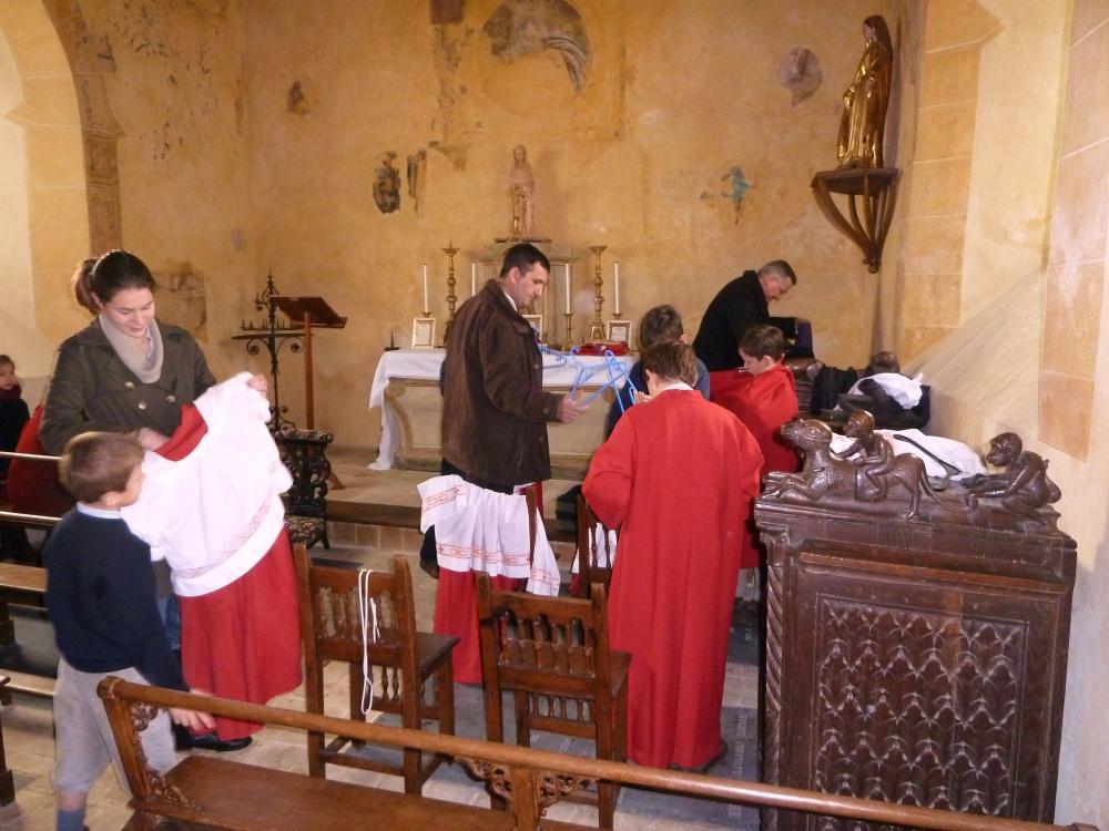 20 janvier 2011, avant la messe à la Chaslerie (1).