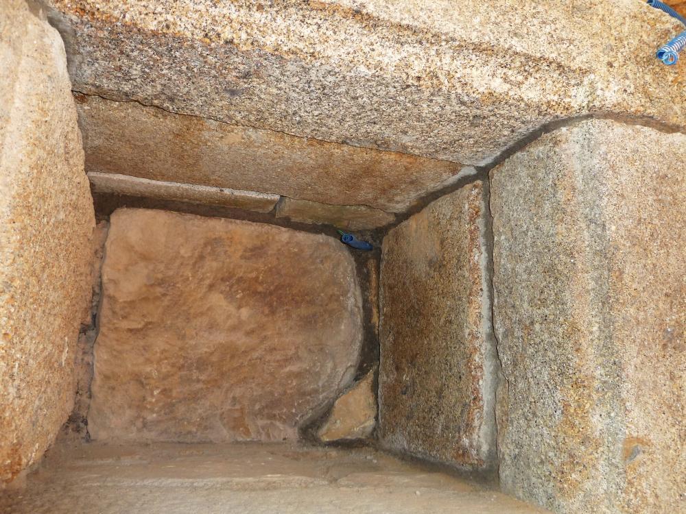 20 avril 2011, l'intérieur de la niche.