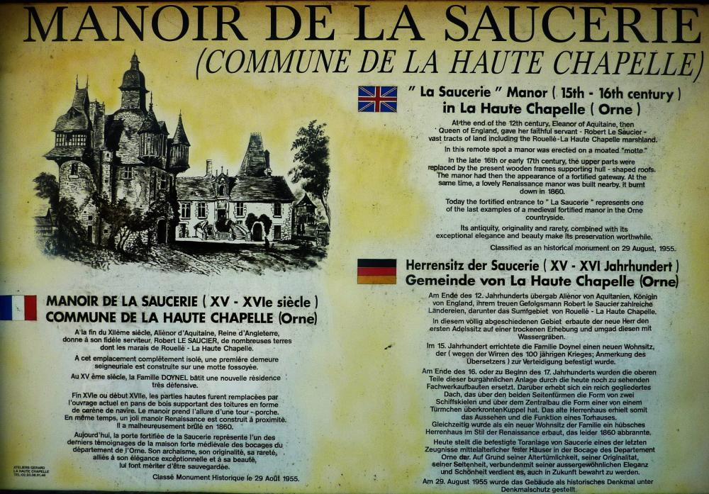 4 juin 2011, le panneau d'information de la Saucerie.