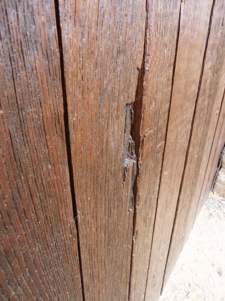 5 juin 2011, détail de la porte charretière de la Chaslerie.