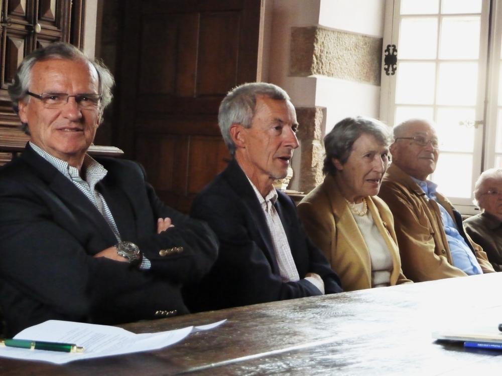 9 juillet 2011, de gauche à droite: Jean-Aimable LENEGRE, François MOREAU, Jeannine ROUCH, André ROZARD.