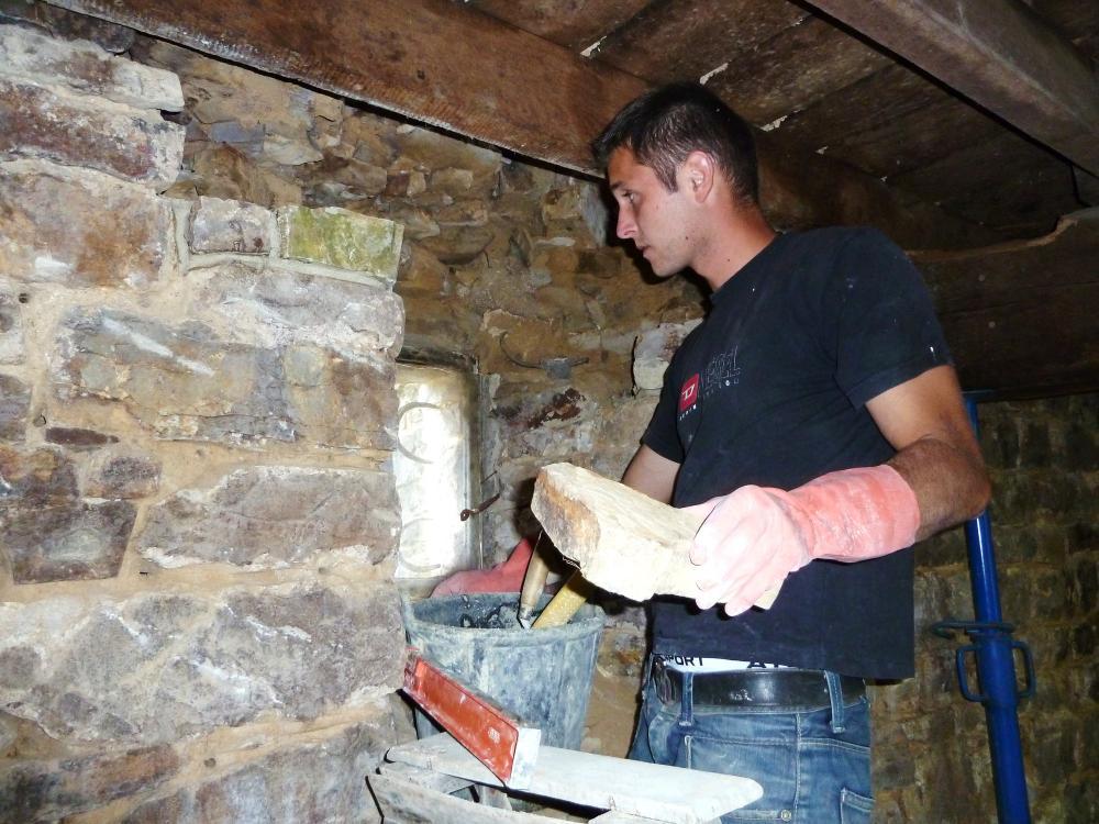 9 août 2011, dans la cuisine provisoire, au rez-de-chaussée du colombier.