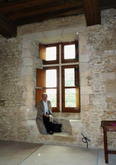 11 septembre 2011, Carole au manoir de la tour aux Anglais, à Aunou-le-Faucon.