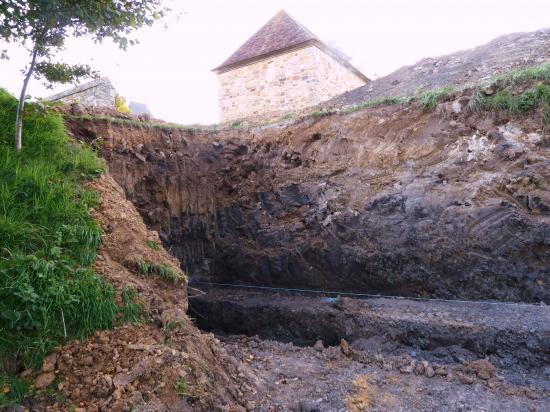 Le trou des fondations.