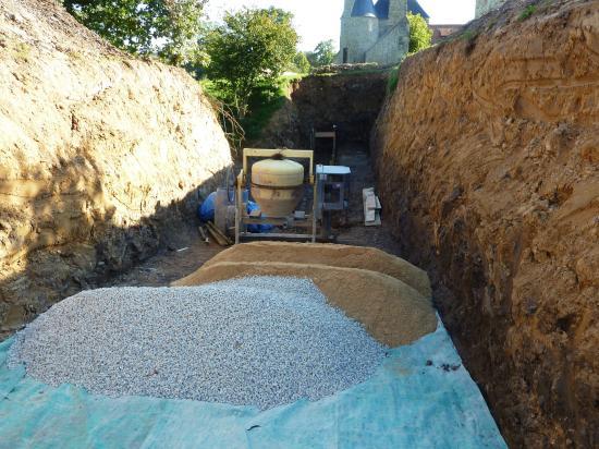 La rampe d'accès au chantier.