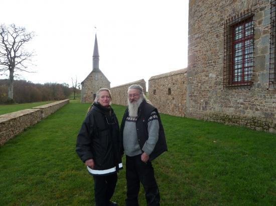 10 décembre 2011, Roland et Gabriele FORNARI sur la terrasse.