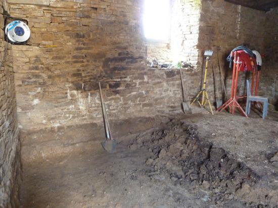 24 avril 2012, le nettoyage s'est poursuivi dans la tour Louis XIII.