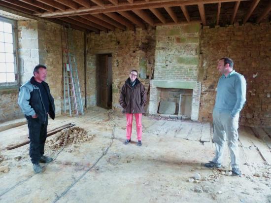 19 mai 2012, Philippe JARRY (de passage pour nous prêter son niveau à laser), Lucyna et Mr T.