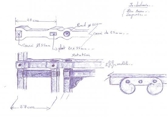 19 juin 2012, détail de la contre-proposition de Roland FORNARI pour le portail du mur entre la chapelle et le manoir.