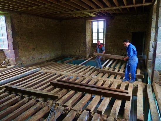 4 juillet 2012, le chantier en cours dans la