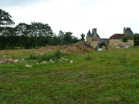 5 juillet 2012, avant les derniers travaux de terrassement.