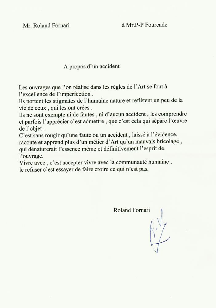 Un exemple de la façon dont Roland FORNARI s'exprime.
