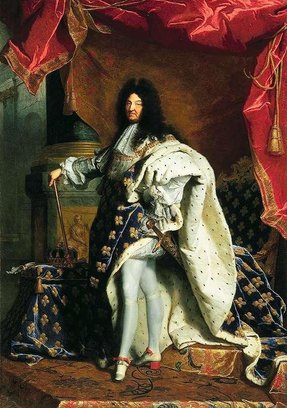 Louis XIV par Hyacinthe RIGAUD.