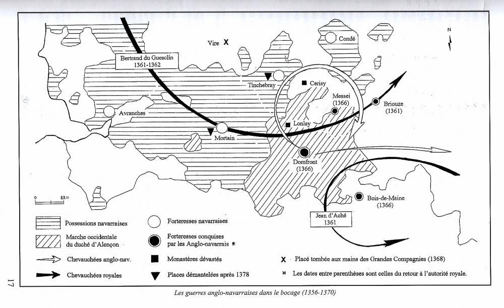 Carte extraite de la thèse de maîtrise de M. Franck MAUGER.