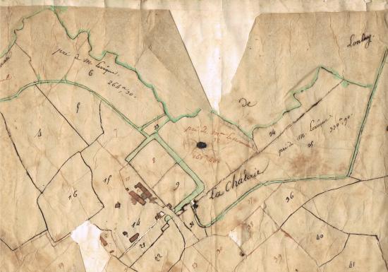 Plan de la 1ère moitié du 19ème siècle.