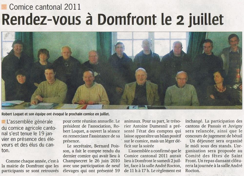 Extrait du numéro du 27 janvier 2011 du