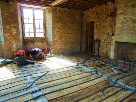31 juillet 2012, le chantier en fin d'après-midi.