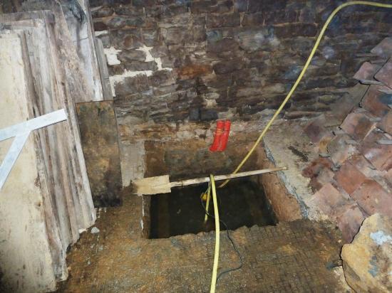 20 décembre 2012, le niveau de l'eau à ce jour sous les écuries de la Chaslerie.