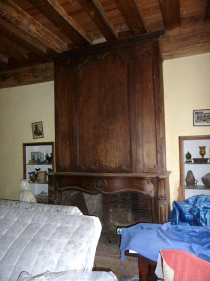 5 janvier 2013, la cheminée du salon actuel de l'