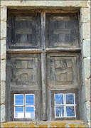 Fenêtre du manoir de Sainte-Croix-de-la-Cour (près de Putanges) tirée du blog d'Arnaud TIERCELIN.