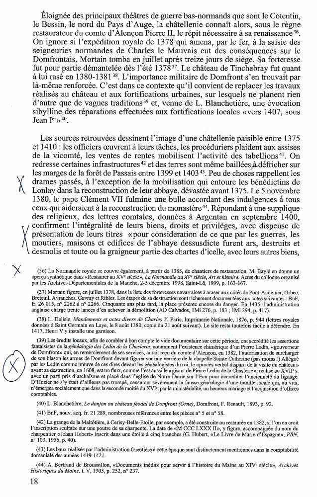 Page 18 d'une thèse de maîtrise d'un étudiant caennais de 1993.