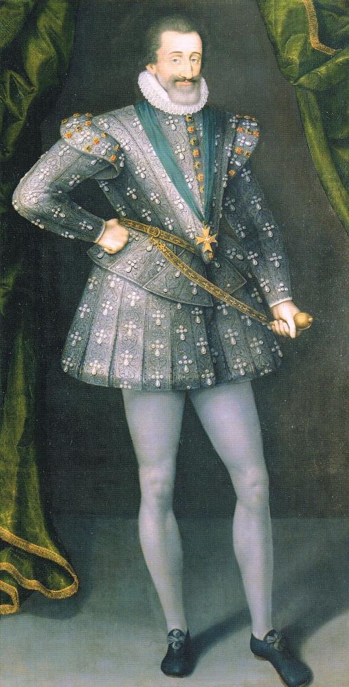 Vers 1610, huile sur toile (H. 1,90 m; L 1 m) par un artiste français ou hollandais, musée de la révolution française au château de Vizille.