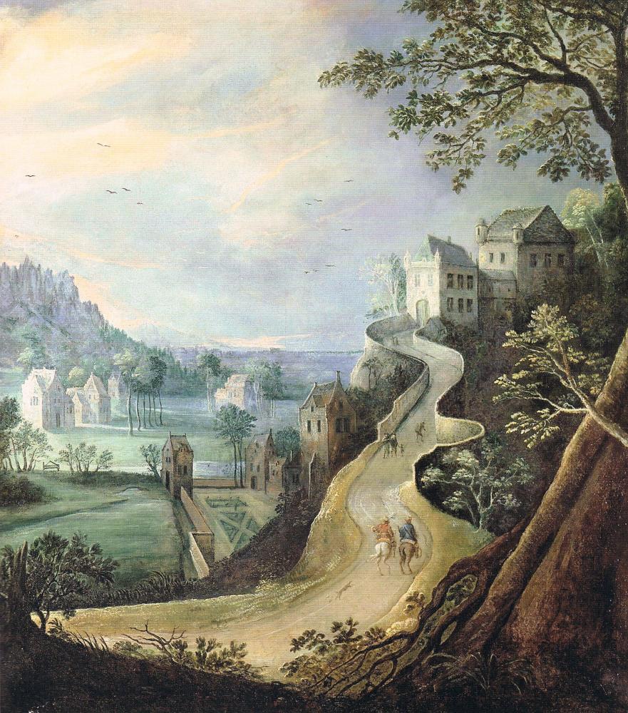tableau (H. 1,55 m; L. 1,44 m) en dépôt du département des peintures du musée du Louvre au château de Fontainebleau.