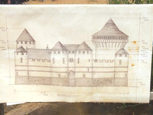 Le projet de Guédelon, plan en élévation.