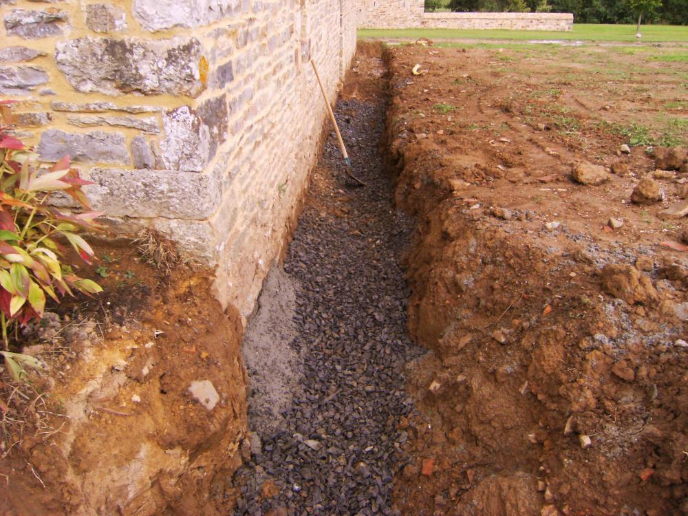 Travaux de drainage au Sud de la charretterie.