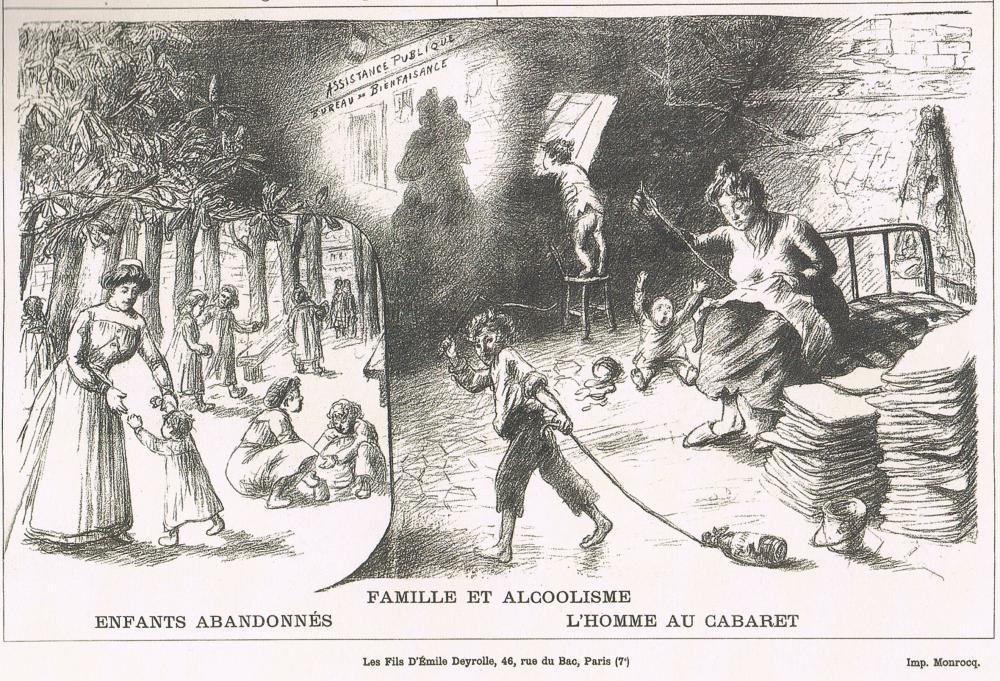 Editions Deyrolle, l'alccolisme par Gustave Philippon, Dr-es-sciences, et le Dr Legrain.