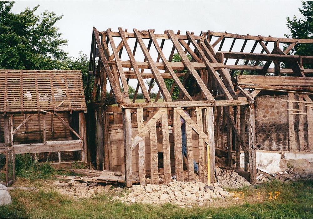 Juin 1999, démontage des trois poulaillers.