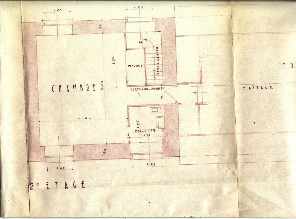 Les plans, approuvés par Lucien PRIEUR, A.C.M.H., le 14 octobre 1952 (le 2ème étage).