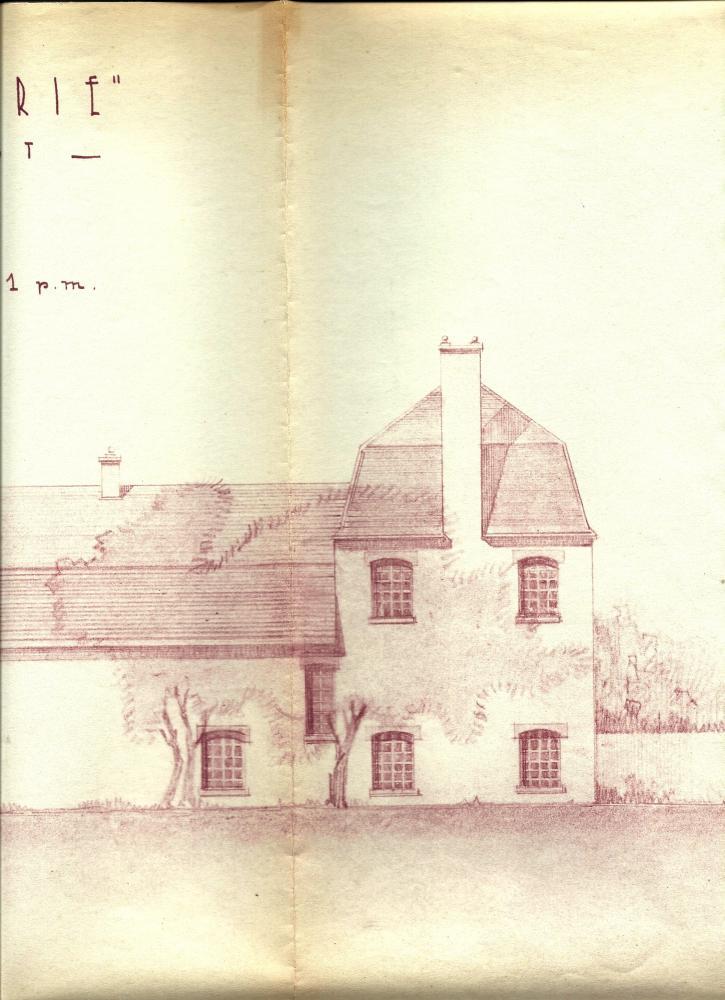 Les plans, approuvés par Lucien PRIEUR, A.C.M.H., le 14 octobre 1952 (le colombier percé de quatre nouvelles fenêtres et l'écurie d'une nouvelle sur leur façade Ouest).