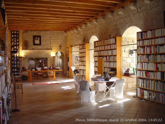 La bibliothèque de Plieux, chez Renaud CAMUS.