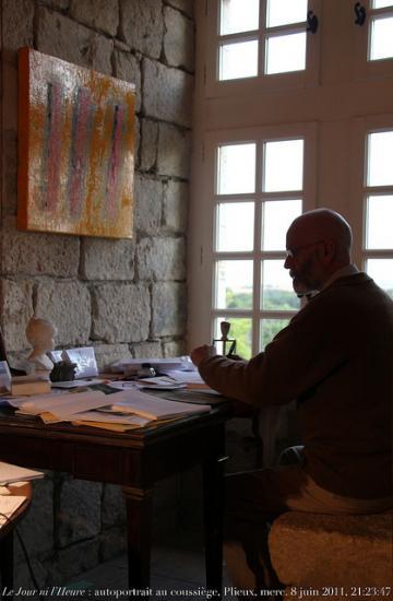 Coussièges au château de Plieux (Gers), chez l'écrivain Renaud CAMUS.