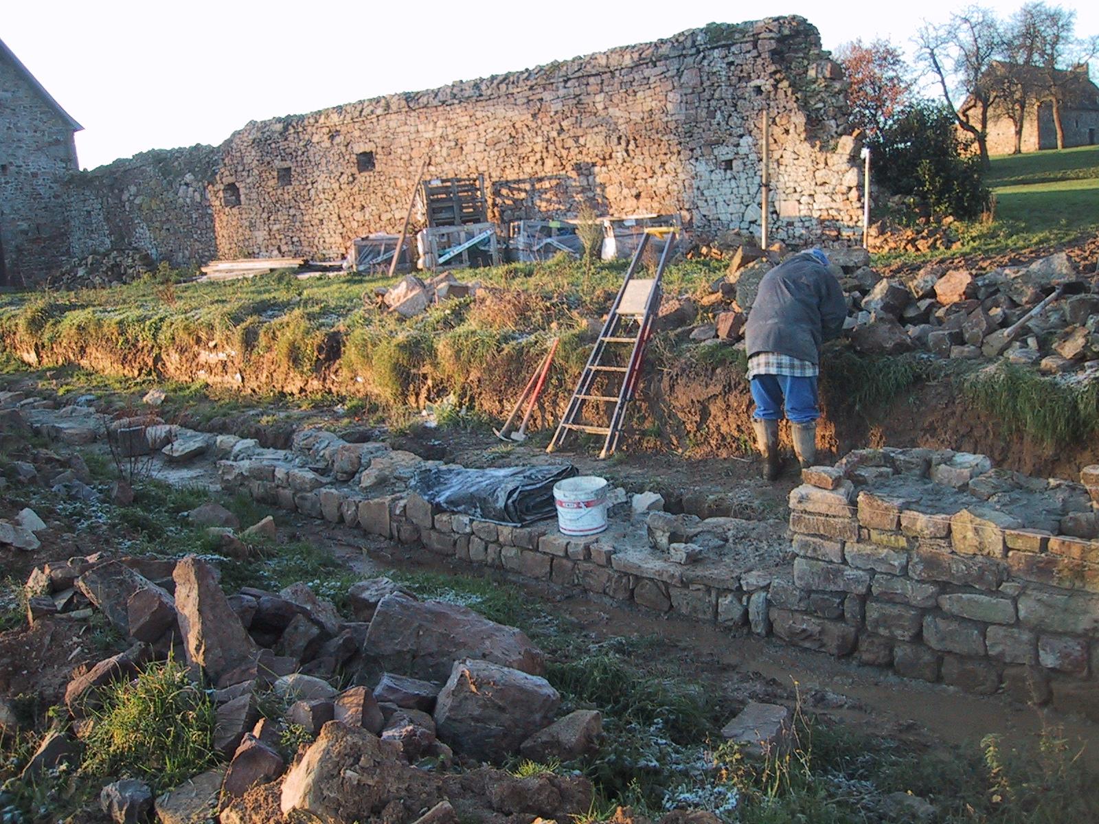 Restauration du muret de terrasse