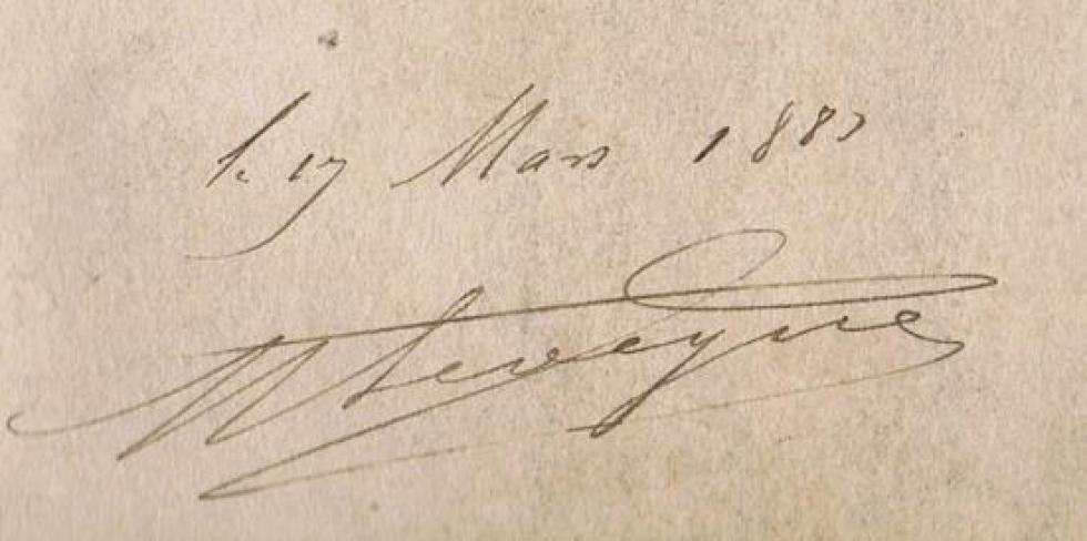 L'inscription au verso du plan de 1883.