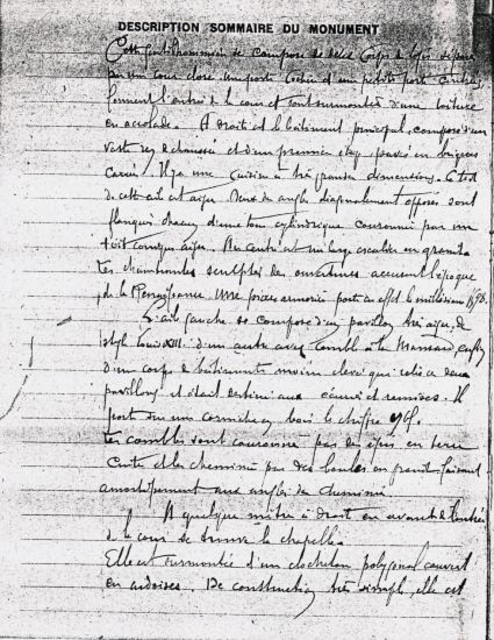 Page 1 du rapport préparatoire à l'arrêté de 1926.