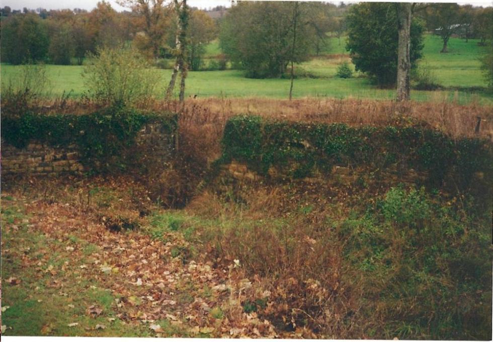 Janvier 1992, le lierre n'a pas encore été arraché du bief aval.